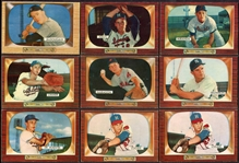 1955 Bowman Lot of 15 Ex-Exmt
