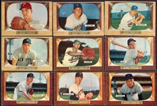 1955 Bowman Lot of 27 Different w/High Numbers
