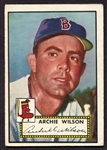 1952 Topps Hi-Number #327 Archie Wilson Boston Red Sox