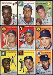 1954 Topps Lot of 18 Different