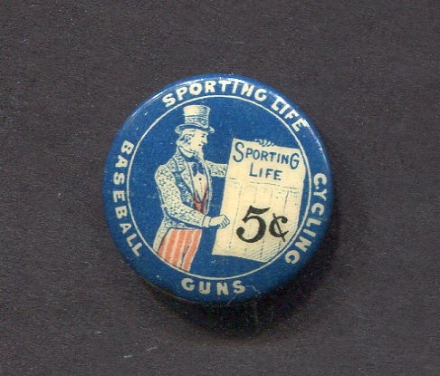 1896 Sporting Life Pinback Button