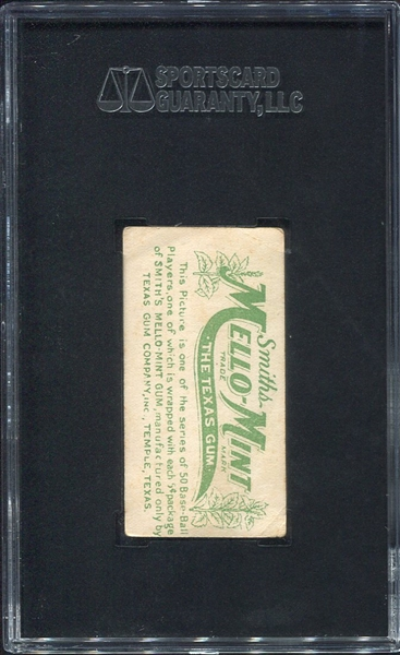 E105 Mello-Mint Gum Rarity Larry Doyle Batting SGC 2.5