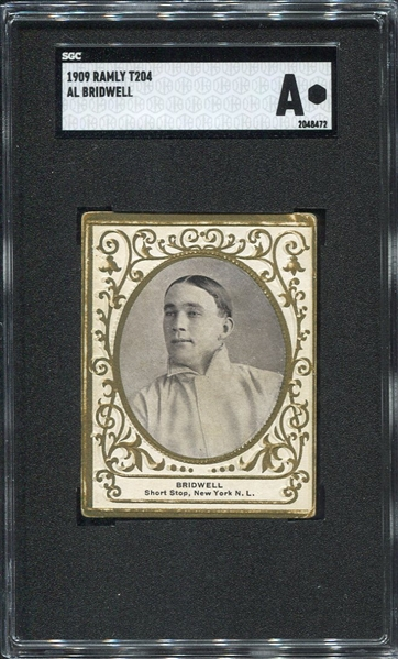 T204 Bridwell New York Giants SGC A