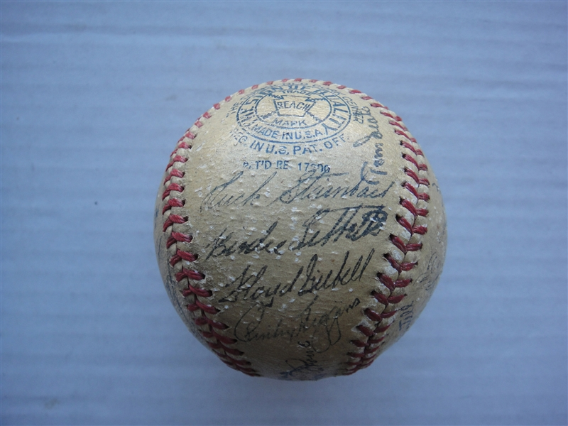 1940 Detroit Tigers Signed Team Ball AL Pennant Winners