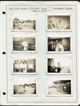 1930s-40s Scrapbook Photograph Collection Gehrig DiMaggio Wagner & Much More