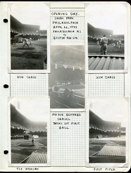 1930's-40's Scrapbook Photograph Collection Gehrig DiMaggio Wagner & Much More